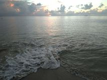 海浪Aguadillia波多黎各 库存照片