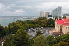 黑海海岸的城市  2014 2018场杯子比赛奥林匹克俄国索契冬天世界 免版税库存图片