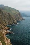 黑海海岸线的惊人的风景视图 免版税库存图片