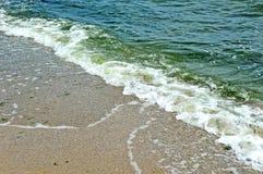 海海浪和壳 图库摄影