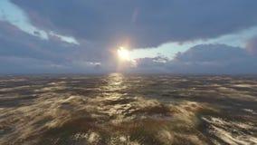 海海浪和平的大西洋 影视素材