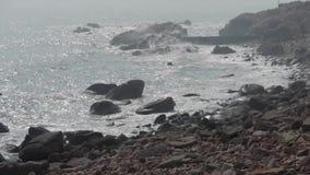 海海浪,舔海滩的波浪 股票视频