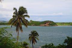 海海湾海岸  地亚哥苏亚雷斯(安齐拉纳纳),马达加斯加 免版税库存照片
