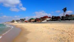海海滩在中东和有趣的旅游业里 股票录像