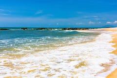 海海滩纯净的沙子 免版税库存照片