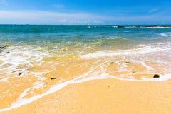 海海滩纯净的沙子 库存照片
