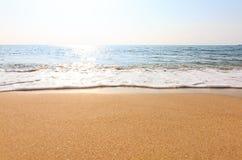 海海滩天空放松风景 库存图片