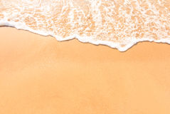 海海滩放松风景 免版税库存图片