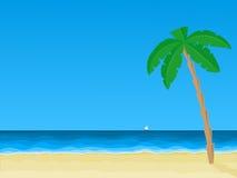 海海滩看法  图库摄影