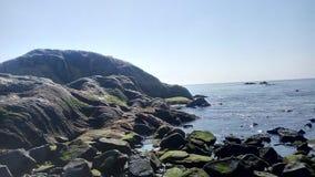 海海滩蓝色 库存图片