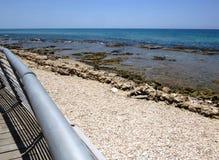海海滩视图 图库摄影