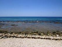 海海滩视图 免版税库存照片