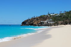 海海滩,圣徒貂海岛 免版税库存照片