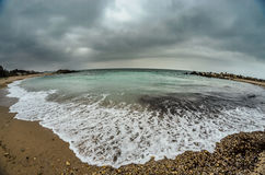 黑海海滩 免版税图库摄影