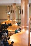 海涅肯历史啤酒厂经验内部在阿姆斯特丹,荷兰,2019年3月23日的中心 库存照片