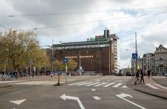 海涅肯啤酒厂大厦在阿姆斯特丹 免版税库存照片