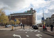 海涅肯啤酒厂大厦在阿姆斯特丹 免版税库存图片