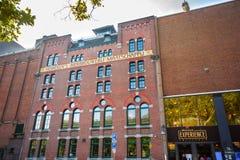 海涅肯啤酒厂总部在阿姆斯特丹 库存照片