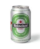 海涅肯啤酒罐 免版税库存图片