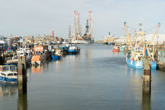 海港口IJmuiden 库存图片