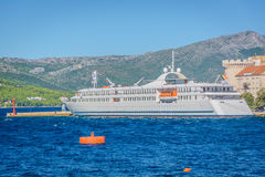 海港在镇Korcula,克罗地亚里 免版税库存照片
