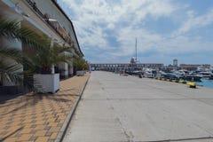 海港大厦在索契,俄罗斯夏令时 免版税图库摄影