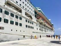 Empress of the Seas cruise ship in CocoCay, Bahamas