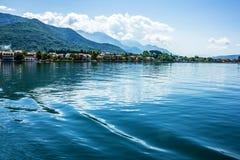 海湾。海视图,黑山 免版税库存图片