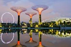 滨海湾公园在新加坡 免版税库存图片