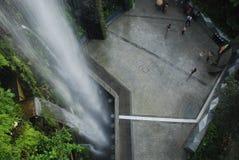 滨海湾公园瀑布新加坡 库存照片