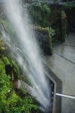 滨海湾公园瀑布新加坡 免版税库存图片