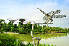 滨海湾公园 免版税图库摄影