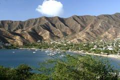 海湾加勒比哥伦比亚海运taganga 免版税库存照片