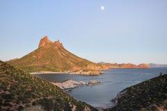 海湾卡洛斯・墨西哥圣地面蛇 免版税库存照片