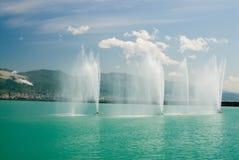 海湾喷泉海运 库存照片