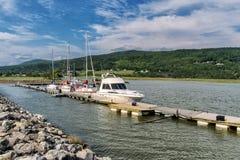 海湾圣保罗小游艇船坞 免版税库存照片