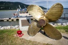 海湾圣保罗小游艇船坞 免版税库存图片