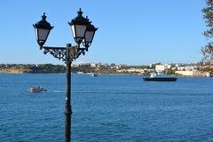 海湾在塞瓦斯托波尔,克里米亚 免版税库存照片