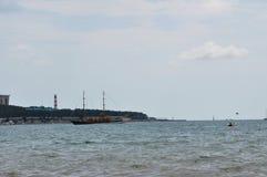 海湾在市Gelendzhik 图库摄影
