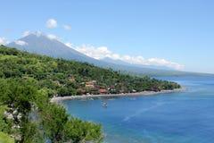 海湾在Amed,巴厘岛 库存图片