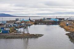 海湾在Anadyr 免版税库存照片