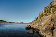 海湾在Marstrand 免版税图库摄影