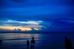 海湾墨西哥日落 免版税图库摄影