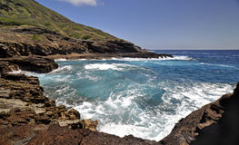 海湾夏威夷火山 图库摄影