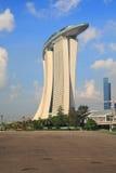 海湾娱乐场海滨广场铺沙新加坡 免版税库存照片