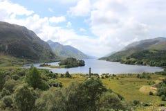 海湾希尔斯看法在Glenfinnan 免版税库存图片