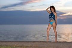 海湾常设妇女年轻人 库存图片