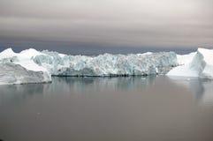 海湾庄严格陵兰的冰 图库摄影
