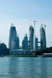 海湾建筑凯佩尔反映塔 库存图片
