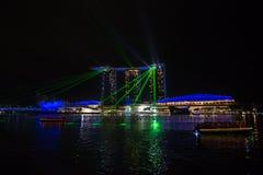 海湾旅馆海滨广场铺沙新加坡 库存照片